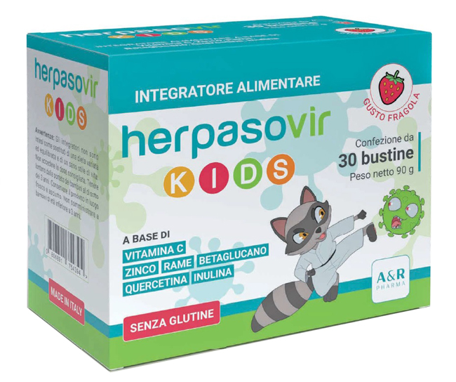 HERPASOVIR KIDS 30 BUSTINE - Farmaseller