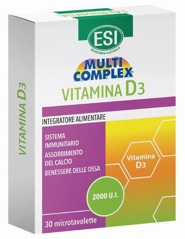 ESI MULTICOMPLEX VITAMINA D3 30 TAVOLETTE - Farmaseller